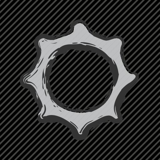cog, gear, menu, settings, wheel icon