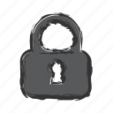 lock, locked, password, privacy, private, unlock icon