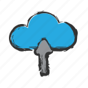 cloud, load, upload icon