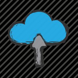 cloud, load, upload icon