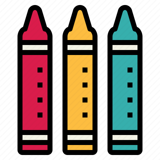 color, crayons, pen, write icon