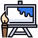 art, canvas, paint, tool, tools icon