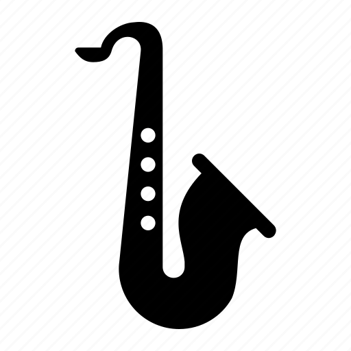 instrument, music, musical instrument, saxophone icon
