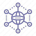 connection, internet, network, social icon