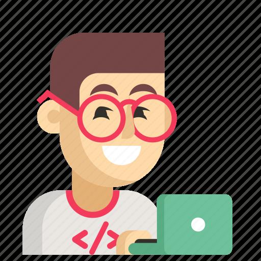 Asia, avatar, job, man, profession, programmer, work icon - Download on Iconfinder