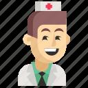 asia, avatar, job, man, nurse, profession, work icon