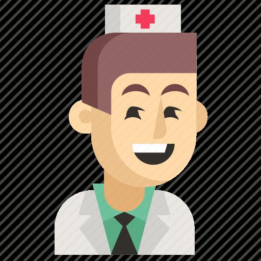 Asia, avatar, job, man, nurse, profession, work icon - Download on Iconfinder