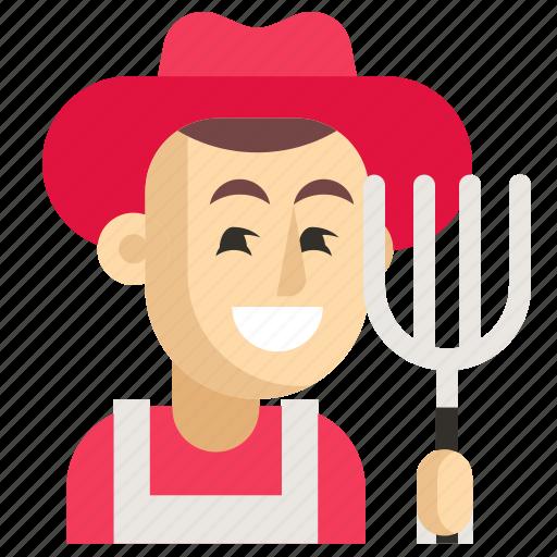 Asia, avatar, farmer, job, man, profession, work icon - Download on Iconfinder