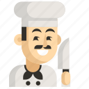 asia, avatar, chef, job, man, profession, work