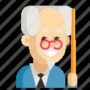 asia, avatar, job, man, profession, professor, work icon