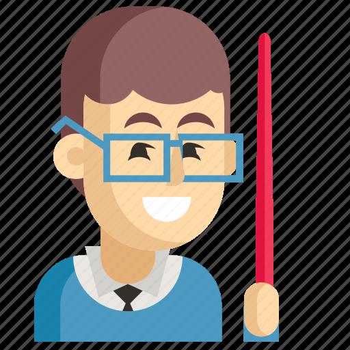 Asia, avatar, job, man, profession, teacher, work icon - Download on Iconfinder