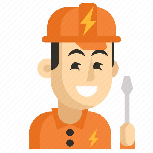 Asia, avatar, electrician, job, man, profession, work icon - Download on Iconfinder