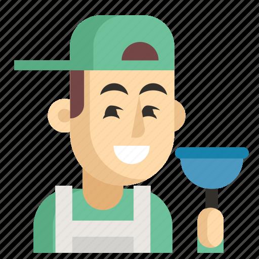 Asia, avatar, job, man, plumber, profession, work icon - Download on Iconfinder