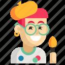 asia, avatar, job, man, painter, profession, work icon