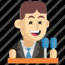 asia, avatar, job, man, politician, profession, work icon