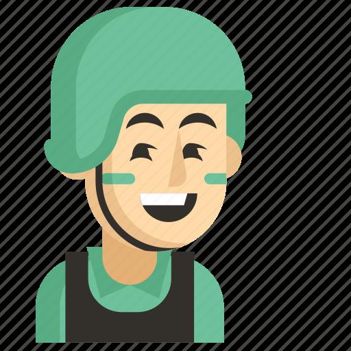 Asia, avatar, job, man, profession, soldier, work icon - Download on Iconfinder