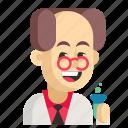asia, avatar, chemist, job, man, profession, work icon