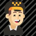asia, avatar, job, man, profession, taxi driver, work icon