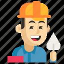 asia, avatar, builder, job, man, profession, work icon