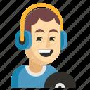 asia, avatar, dj, job, man, profession, work icon