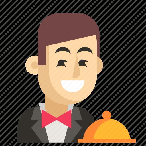 Asia, avatar, job, man, profession, waiter, work icon - Download on Iconfinder
