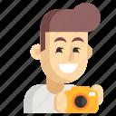 asia, avatar, job, man, photographer, profession, work icon
