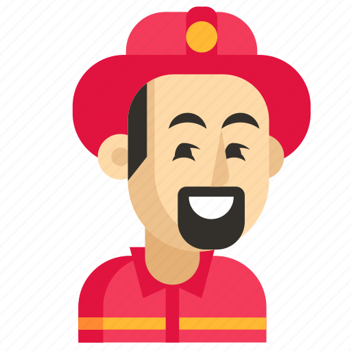 Asia, avatar, firefighter, job, man, profession, work icon - Download on Iconfinder