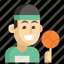 asia, athlete, avatar, job, man, profession, work icon