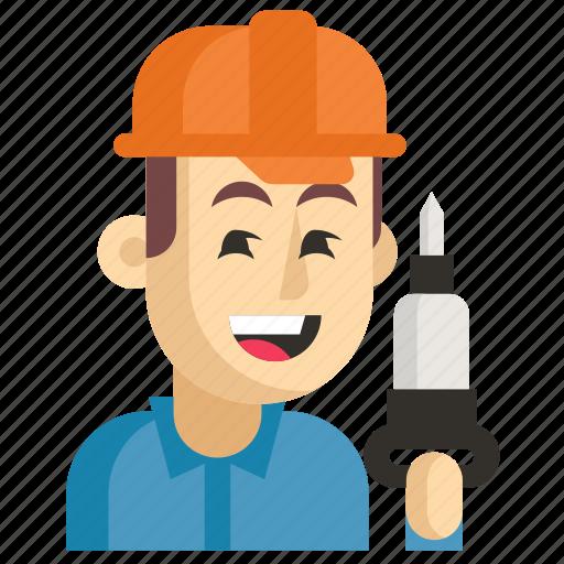 Asia, avatar, job, man, miner, profession, work icon - Download on Iconfinder