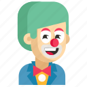 asia, avatar, clown, job, man, profession, work icon