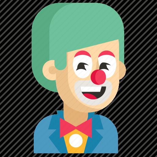 Asia, avatar, clown, job, man, profession, work icon - Download on Iconfinder
