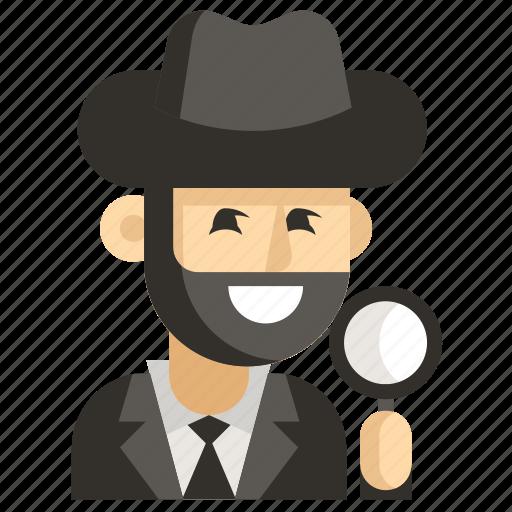 Asia, avatar, detective, job, man, profession, work icon - Download on Iconfinder