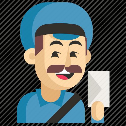 Asia, avatar, job, man, postman, profession, work icon - Download on Iconfinder
