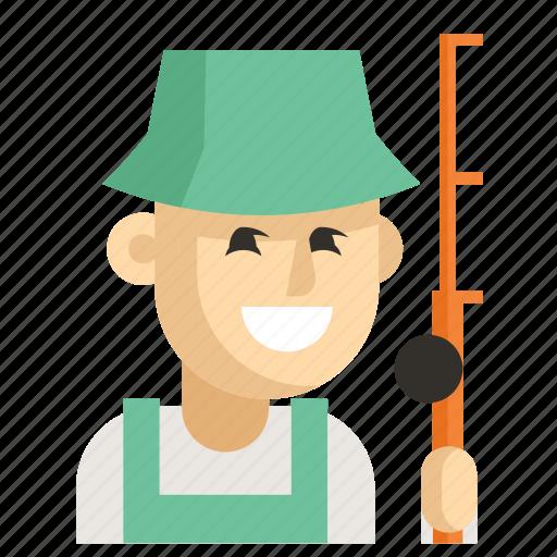 Asia, avatar, fisherman, job, man, profession, work icon - Download on Iconfinder