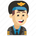 asia, avatar, job, man, pilot, profession, work icon