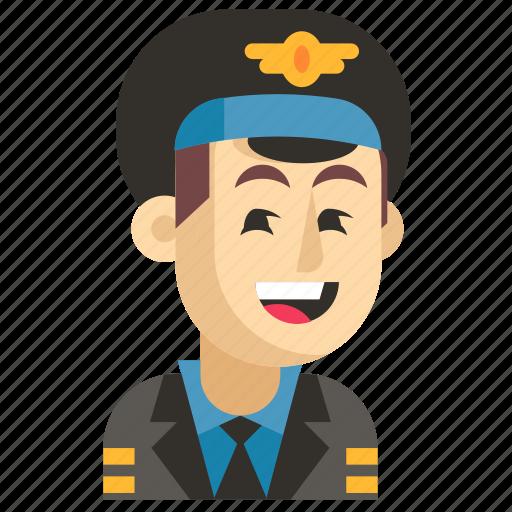 Asia, avatar, job, man, pilot, profession, work icon - Download on Iconfinder
