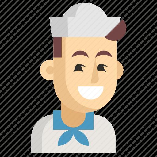 Asia, avatar, job, man, profession, sailor, work icon - Download on Iconfinder