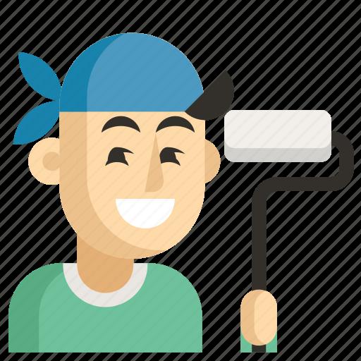 Asia, avatar, dyer, job, man, profession, work icon - Download on Iconfinder
