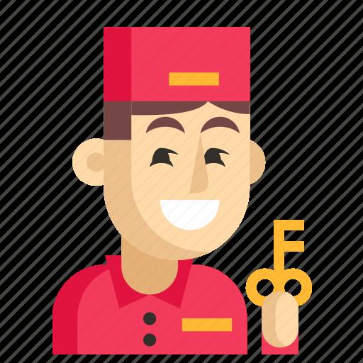 Asia, avatar, concierge, job, man, profession, work icon - Download on Iconfinder