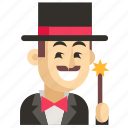 asia, avatar, job, magician, man, profession, work icon