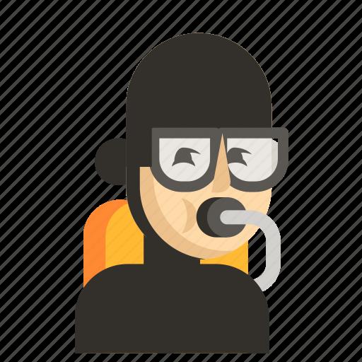 Asia, avatar, diver, job, man, profession, work icon - Download on Iconfinder