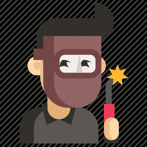Asia, avatar, job, man, profession, welder, work icon - Download on Iconfinder