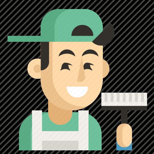 Asia, avatar, cleaner, job, man, profession, work icon - Download on Iconfinder