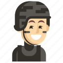 asia, avatar, job, man, profession, swat, work icon