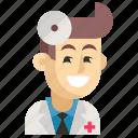 asia, avatar, doctor, job, man, profession, work icon