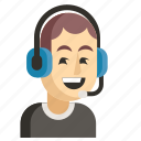 asia, avatar, job, man, profession, support, work icon