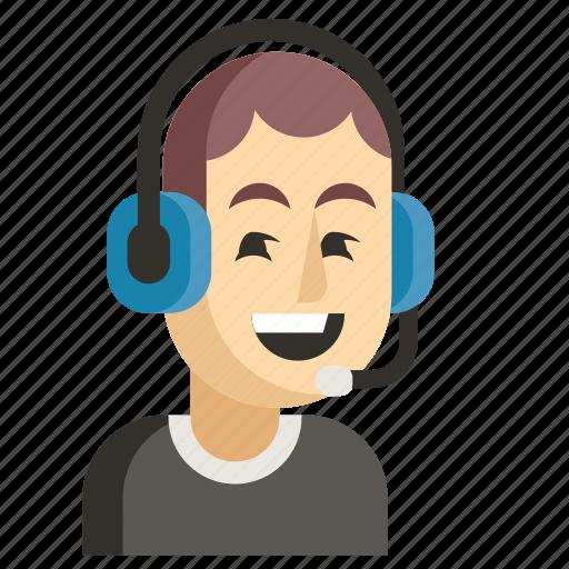 Asia, avatar, job, man, profession, support, work icon - Download on Iconfinder