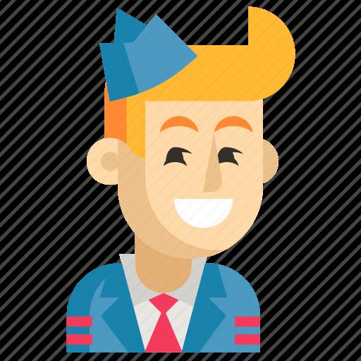 Asia, avatar, job, man, profession, steward, work icon - Download on Iconfinder