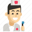 asia, avatar, dentist, job, man, profession, work icon