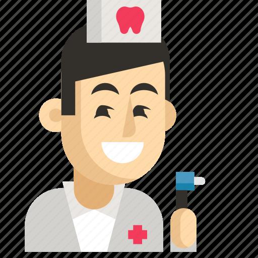 Asia, avatar, dentist, job, man, profession, work icon - Download on Iconfinder